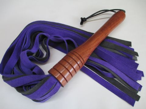 Ultra Violet Purple and Charcoal Coloured Suede  Falls Flogger (SS65)